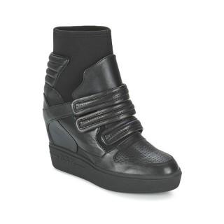 2017 Chaussures ASH Axel Noir Basket Montante Femme Vendre France