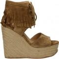 Acheter Chaussures ASH Belinda Beige Espadrilles Femme à Prix Réduit