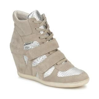 Achetez le Chaussures ASH Bea Beige / Argent Basket Montante Femme à Prix Bas