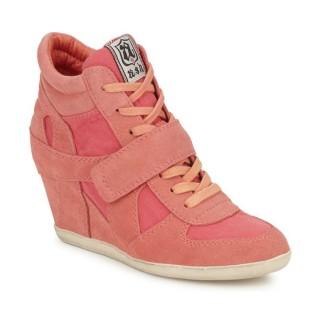 Boutique Chaussures ASH Bowie Rose Pastel Basket Montante Femme Rabais Paris