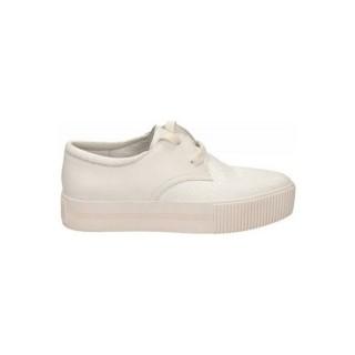 Boutique Chaussures ASH Crack Nappa Calf Blanc Richelieu Femme Rabais Paris