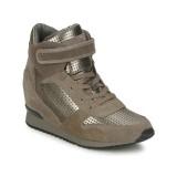 Boutique Officielle Chaussures ASH Drum Marron / Or Basket Montante Femme Réduction En Ligne