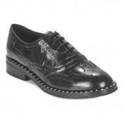 Boutique Officielle Chaussures ASH Wing Noir Richelieu Femme Pas Cher France