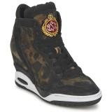 Boutique de Chaussures ASH Buzz Bis Noir/Léopard Basket Montante Femme Pas Cher Prix