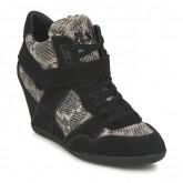 Catalogue Chaussures ASH Bisou Noir/Python Basket Montante Femme Soldes Provence