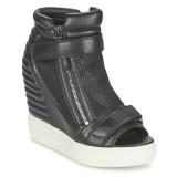 Chaussures ASH Addict Noir Basket Montante Femme Rabais Boutique Paris