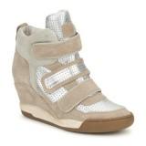 Chaussures ASH Alex Bis Argent / Beige Basket Montante Femme Boutique En Ligne