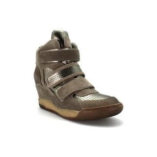 Chaussures ASH Alex Bis - Urbain Alex Gris Basket Montante Femme Vente Chaude Paris