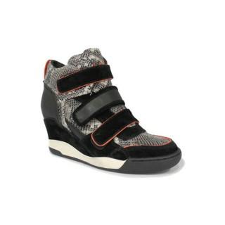 Chaussures ASH Alex - Sportif Coin 3 Scratch Serpent Basket Montante Femme Pas Cher Prix Discount