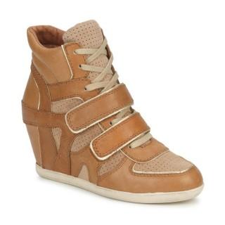 Chaussures ASH Bixi Marron / Beige Basket Montante Femme Personnalisé en Ligne