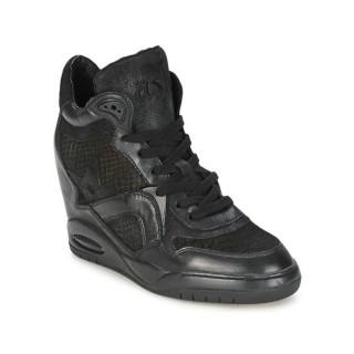 Chaussures ASH Bling Noir Basket Montante Femme Pas Cher en Promo