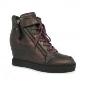 Chaussures ASH Body - Sportif Coin Fermeture Éclair Metalizada Basket Montante Femme Pas Cher Nice