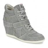 Chaussures ASH Bowie Gris Basket Montante Femme Pas Cher Nice
