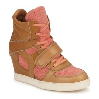 Chaussures ASH Coca Marron / Corail Basket Montante Femme Soldes Promo En Ligne