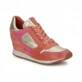 Chaussures ASH Dean Bis Or / Corail / Rose Basket Basses Femme Soldes Lyon