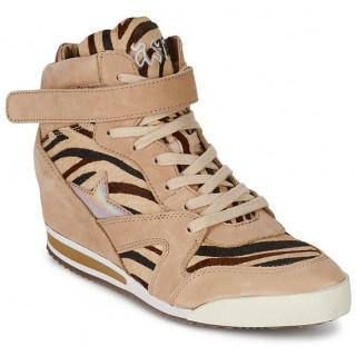 Chaussures ASH Jazz Zèbre Basket Montante Femme Pas Cher Réduction De 50%