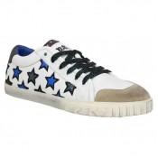 Chaussures ASH Majestic Blanc Bleu Blanc Bleu Basket Basses Femme Magasin Paris