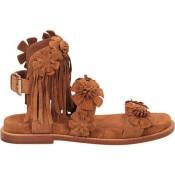 Chaussures ASH Mekita Marron Sandale Femme Collection Pas Cher