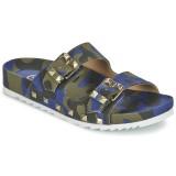 Chaussures ASH Ubud Bleu / Camouflage Mules Femme Pas Cher en Promo
