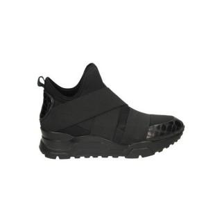 Collection Chaussures ASH Mack Congo Neo Lycra Noir Basket Montante Femme Rabais en ligne