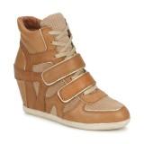 En Ligne Chaussures ASH Bixi Marron / Beige Basket Montante Femme Réduction Prix