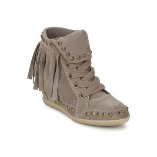 La Nouvelle Collection Chaussures ASH Baba Beige Basket Montante Femme Pas Cher