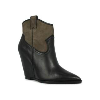 La Nouvelle Collection Chaussures ASH Jude - Campero Coin Noir/Topo Bottines Femme Pas Cher