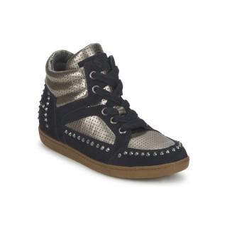 Le Nouveau Chaussures ASH Zest Ter Marine/Or Basket Montante Femme Vendre à Bas Prix