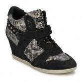 Magasin Chaussures ASH Bisou Noir/Snake Basket Montante Femme France