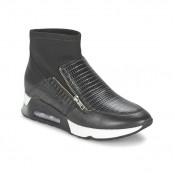 Mode Chaussures ASH Liu Noir Basket Montante Femme la Vente à Bas Prix