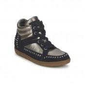 Mode Chaussures ASH Zest Ter Marine/Or Basket Montante Femme Soldes Alsace
