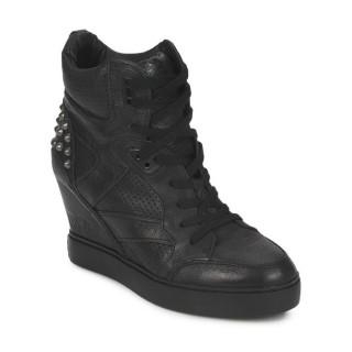 Nouvelle Chaussures ASH Billie Bis Noir Basket Montante Femme Réduction Prix
