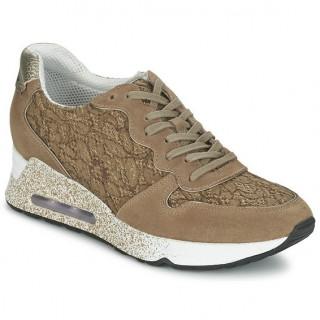 Nouvelle Chaussures ASH Love Beige Basket Basses Femme Paris Vente En Ligne