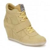 Nouvelles Chaussures ASH Bowie Jaune Pastel Basket Montante Femme Prix En Gros