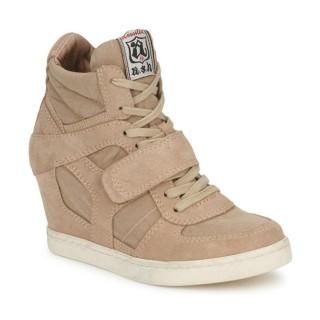 Officiel Chaussures ASH Cool Marron Basket Montante Femme Pas Cher