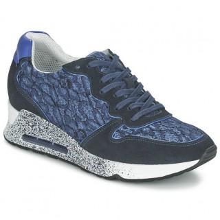 Officiel Chaussures ASH Love Bleu Basket Basses Femme Grosses Soldes