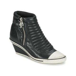 Original Chaussures ASH Genius Noir Basket Montante Femme Soldes France