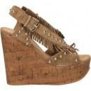 Remise Chaussures ASH Blossom Beige Sandale Femme En Ligne