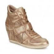 Remise Chaussures ASH Bowie Or / Rose / Beige Basket Montante Femme En Ligne