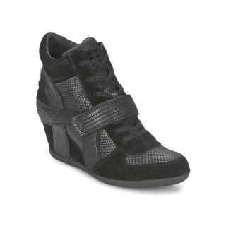 Vente Nouveau Chaussures ASH Bowie Noir Basket Montante Femme Prix Moins Cher