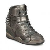 Vente Nouveau Chaussures ASH Freak Métallisé Basket Montante Femme France