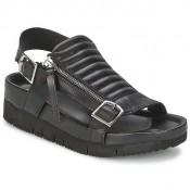 Vente Nouveau Chaussures ASH Touch Noir Sandale Femme France