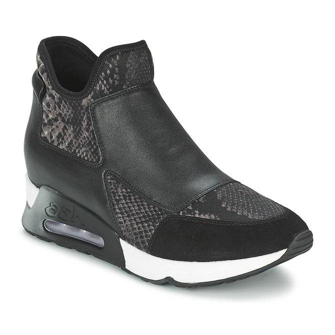 achat vente chaussures ash lazer noir basket montante femme pas cher. Black Bedroom Furniture Sets. Home Design Ideas
