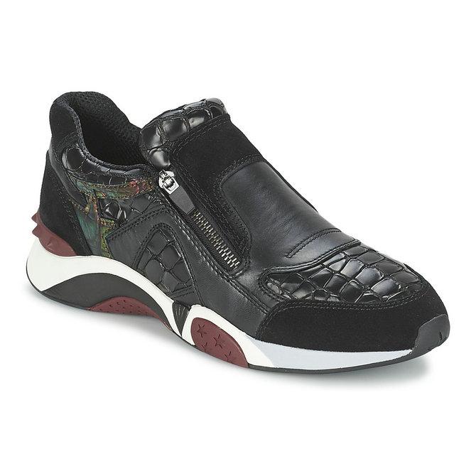 Couleurs variées thésaurisation comme une denrée rare top design Chaussures ASH Hop Noir Basket Basses Femme Soldes Promo En ...