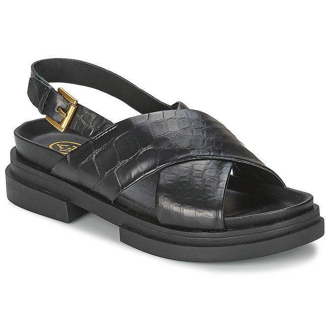 a7dc9afe5a7 Chaussures ASH Sue Noir Sandale Femme Pas Cher Réduction De 50%