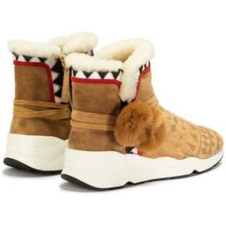 2017 Chaussures ASH Mongolia Baby Silk - Bottines Femme Marron Bottines Vendre France