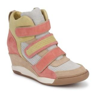 2017 Nouvelle Chaussures ASH Alex Corail / Jaune / Taupe Basket Montante Femme Pas Cher Provence