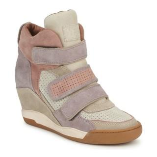 Achat Chaussures ASH Alex Rose / Violet / Taupe Basket Montante Femme à Bas Prix