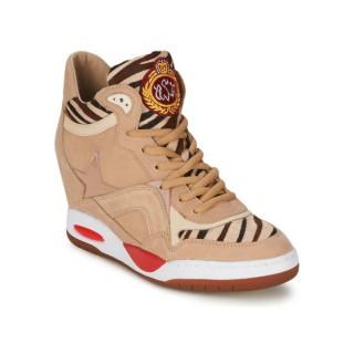 Achat Chaussures ASH Bling Bis Beige/Zèbre Basket Montante Femme à Bas Prix