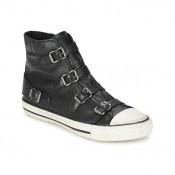 Acheter Chaussures ASH Virgin Noir Basket Montante Femme à Prix Avantageux